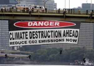 Greenpeace Banner Drop